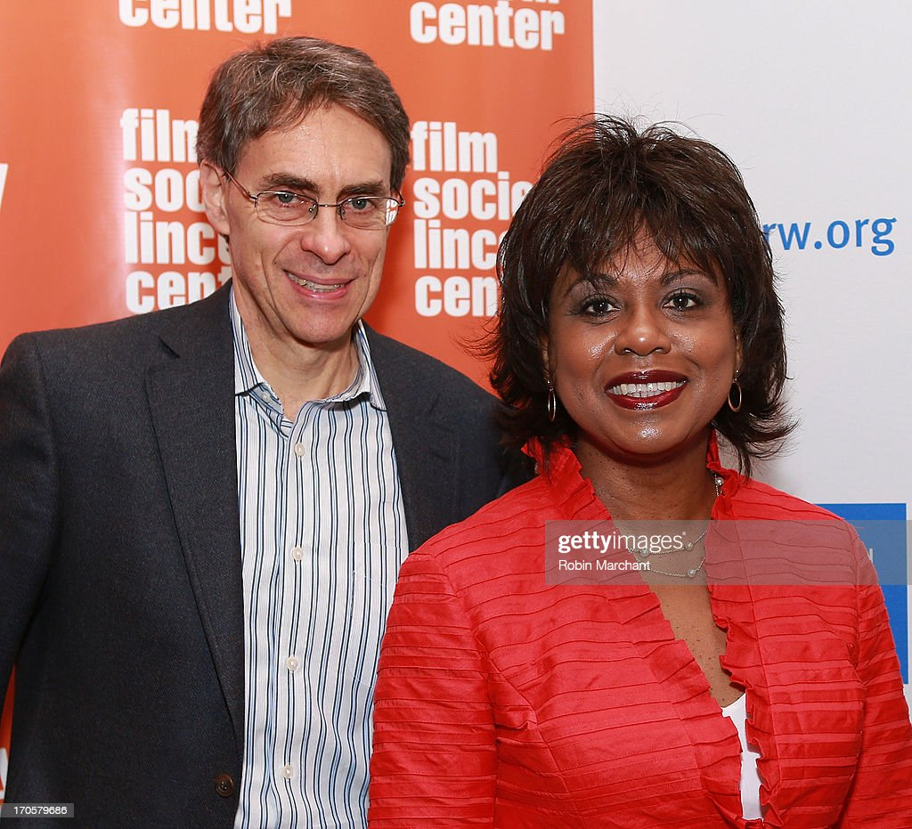 Executive director of Human Rights Watch Kenneth Roth (L) and professor <a gi-track='captionPersonalityLinkClicked' href=/galleries/search?phrase=Anita+Hill&family=editorial&specificpeople=655733 ng-click='$event.stopPropagation()'>Anita Hill</a> attend the 'Anita' Premiere during the 2013 Human Rights Watch Film Festival at The Film Society of Lincoln Center, Walter Reade Theatre on June 14, 2013 in New York City.