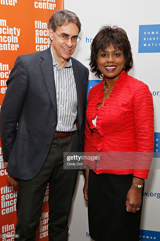 Executive director of Human Rights Watch Kenneth Roth and professor Anita Hill attend the 'Anita' Premiere during the 2013 Human Rights Watch Film Festival at The Film Society of Lincoln Center, Walter Reade Theatre on June 14, 2013 in New York City.