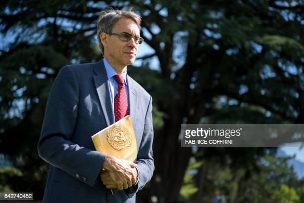 Executive Director of international nongovernmental organization Human Rights Watch Kenneth Roth poses for a picture during an interview with AFP on...