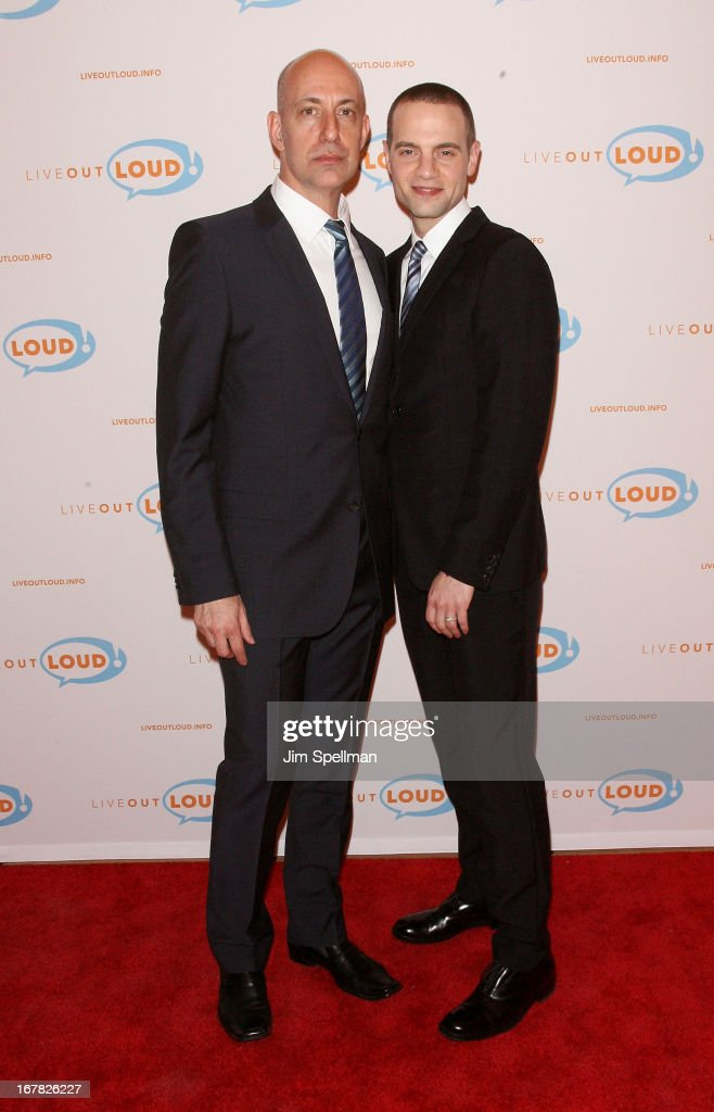 Executive Director of Live Out Loud Leo Preziosi and theater producer Jordan Roth attend the 12th Annual Live Out Loud Gala at TheTimesCenter on April 30, 2013 in New York City.