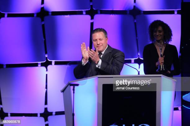 Executive Director of McLaren Technology Founder of JMI Zac Brown speaks on stage during 2017 Clio Sports Awards at Capitale on May 16 2017 in New...