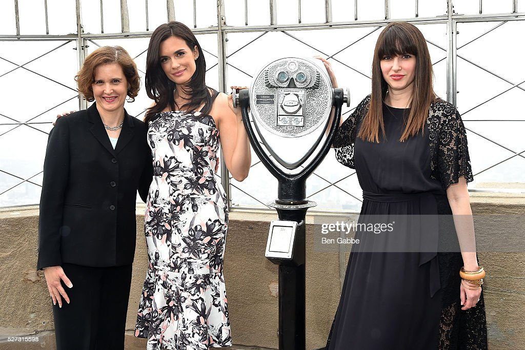 Executive Director of National Alliance on Mental Illness (NAMI), Mary Giliberti, actress Torrey Devitto and Women��s Health magazine editor-in-chief Amy Laird visit The Empire State Building on May 02, 2016 in New York, New York.