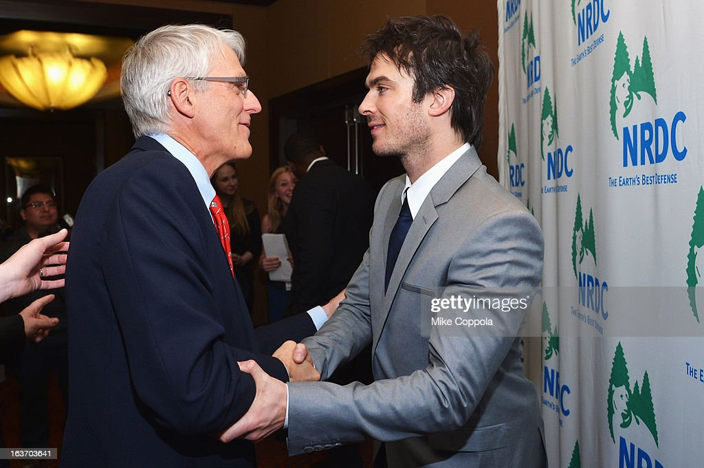 Executive director of NRDC Peter Lehne and actor <a gi-track='captionPersonalityLinkClicked' href=/galleries/search?phrase=Ian+Somerhalder&family=editorial&specificpeople=614226 ng-click='$event.stopPropagation()'>Ian Somerhalder</a> attend the 2013 Natural Resources Defense Council Game Changer Awards at the Mandarin Oriental Hotel on March 14, 2013 in New York City.