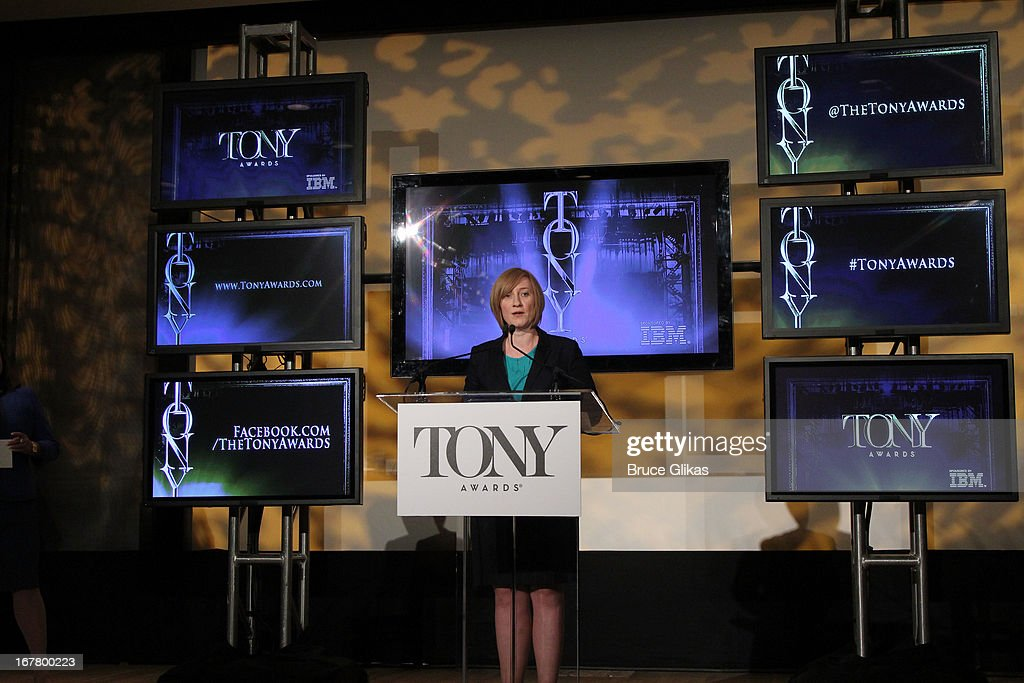 Executive Director of The American Theatre Wing, Heather Hitchens attends the 2013 Tony Awards Nominations at The New York Public Library for Performing Arts on April 30, 2013 in New York City.