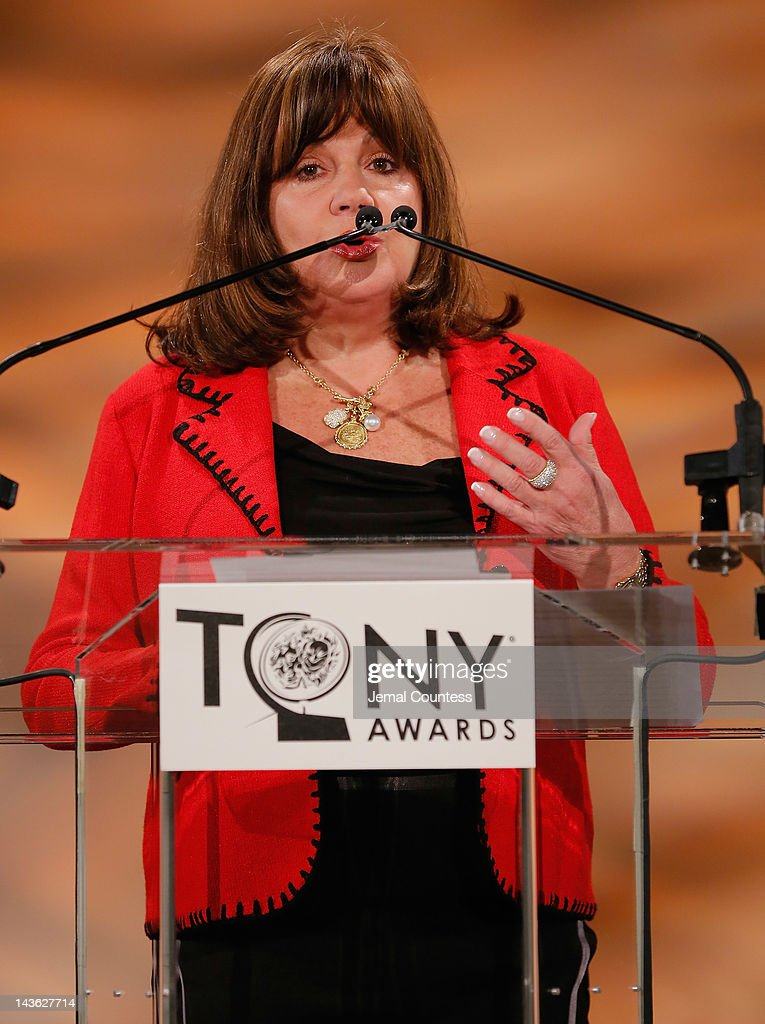 Executive Director of The Broadway League Charlotte St. Martin speaks at the 2012 Tony Awards Nominations Announcement at The New York Public Library for Performing Arts on May 1, 2012 in New York City.