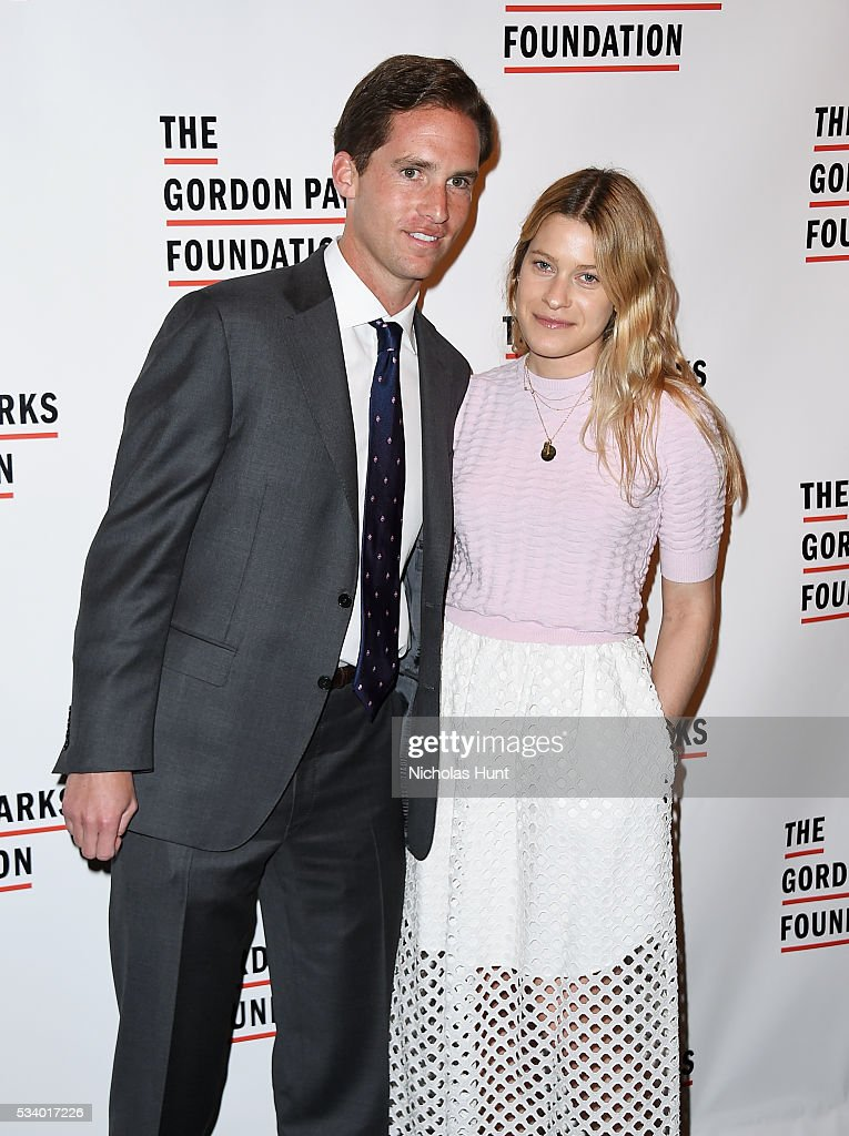 Executive Director of the Gordon Parks Foundation Peter Kunhardt Jr. and Nina Stuart attend the 2016 Gordon Parks Foundation awards dinner at Cipriani 42nd Street on May 24, 2016 in New York City.