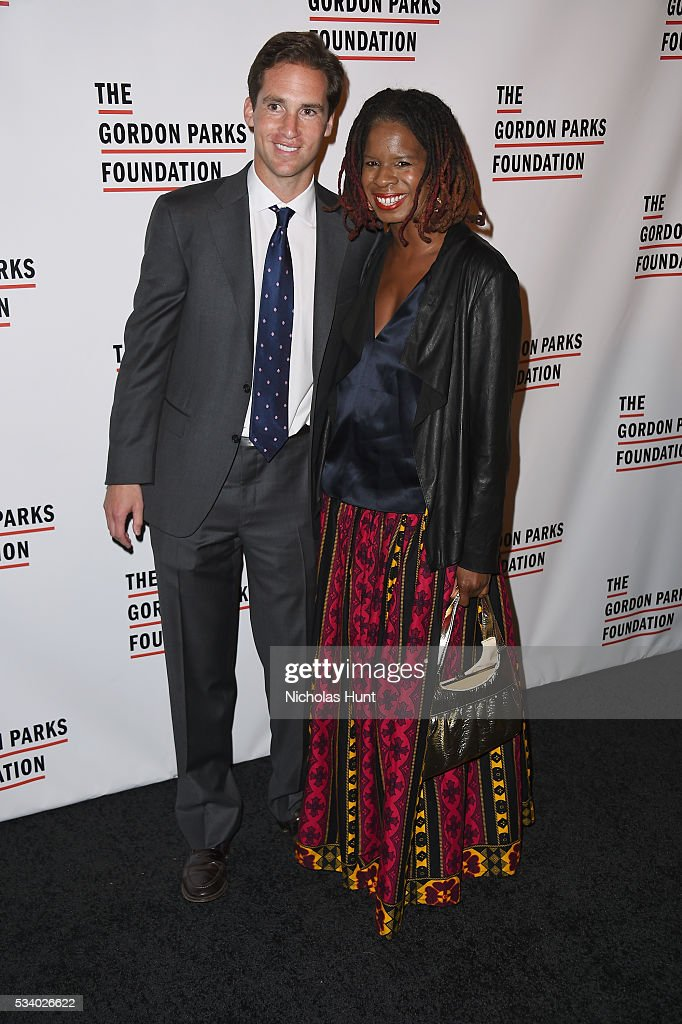 Executive Director of the Gordon Parks Foundation Peter Kunhardt Jr. and Tangie Murray attend the 2016 Gordon Parks Foundation awards dinner at Cipriani 42nd Street on May 24, 2016 in New York City.