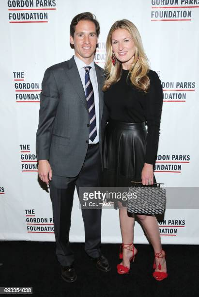 Executive Director of the Gordon Parks Foundation Peter Kunhardt Jr and Sarah Arison attend the 2017 Gordon Parks Foundation Awards Gala at Cipriani...