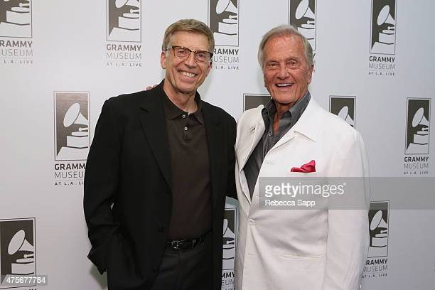 Executive Director of the GRAMMY Museum Bob Santelli and singer Pat Boone attend An Evening With Pat Boone at The GRAMMY Museum on June 2 2015 in Los...
