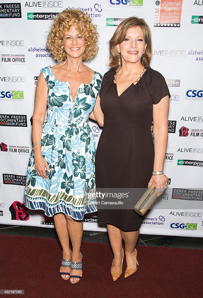 Executive Director of the Greater Philadelphia Film Office Sharon Pinkenson and CBS3 Health Reporter Stephanie Stahl attend the 'Alive Inside' screening at Kimmel Center for the Performing Arts on July 15, 2014 in Philadelphia, Pennsylvania.