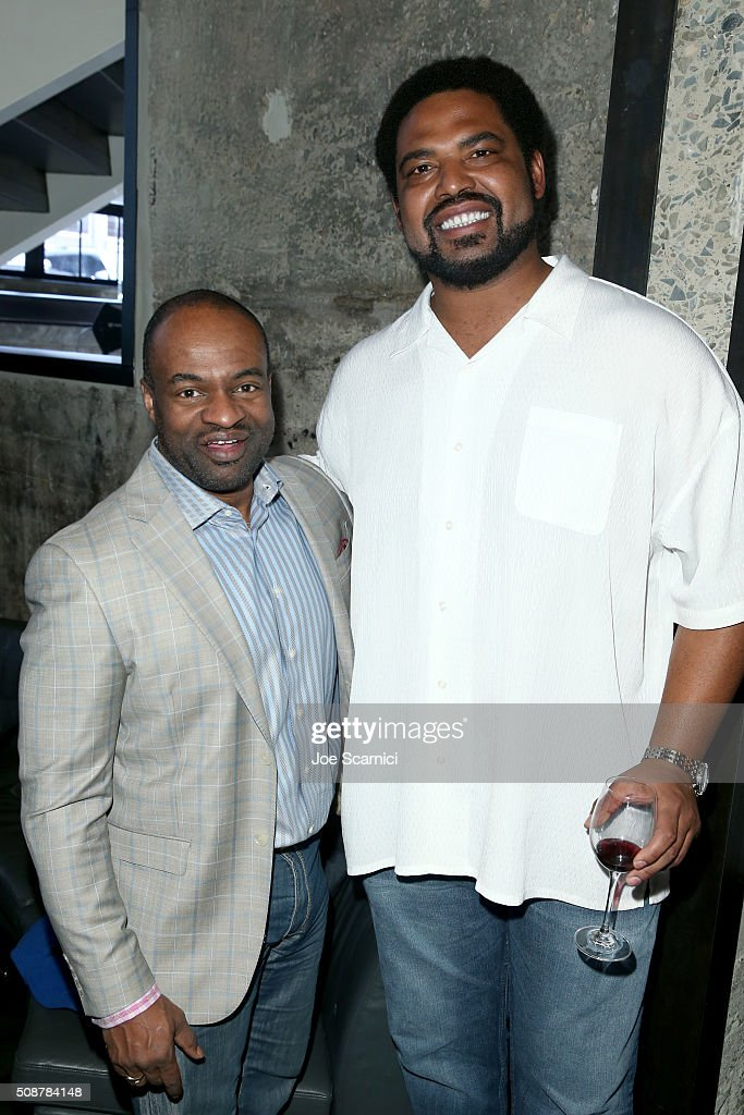 Executive Director of the NFL Players Association DeMaurice F. Smith (L) and former NFL player <a gi-track='captionPersonalityLinkClicked' href=/galleries/search?phrase=Jonathan+Ogden&family=editorial&specificpeople=216522 ng-click='$event.stopPropagation()'>Jonathan Ogden</a> attend the Fanatics Super Bowl Party on February 6, 2016 in San Francisco, California.