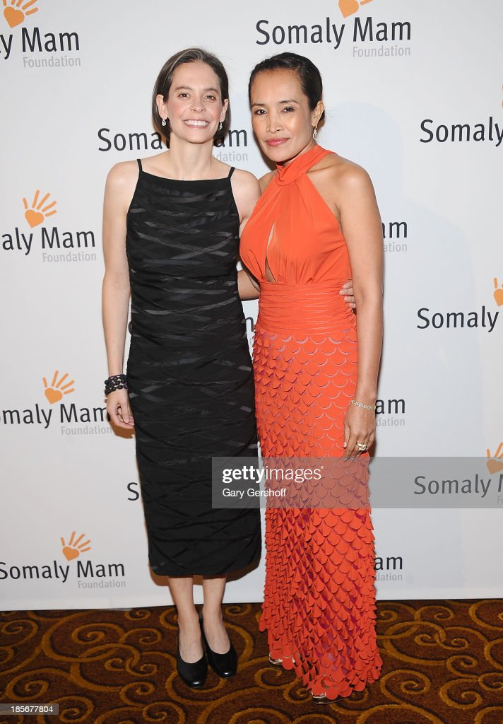 Executive Director of The <a gi-track='captionPersonalityLinkClicked' href=/galleries/search?phrase=Somaly+Mam&family=editorial&specificpeople=823347 ng-click='$event.stopPropagation()'>Somaly Mam</a> Foundation, Gina Reiss-Wilchins (L) and <a gi-track='captionPersonalityLinkClicked' href=/galleries/search?phrase=Somaly+Mam&family=editorial&specificpeople=823347 ng-click='$event.stopPropagation()'>Somaly Mam</a> attend the <a gi-track='captionPersonalityLinkClicked' href=/galleries/search?phrase=Somaly+Mam&family=editorial&specificpeople=823347 ng-click='$event.stopPropagation()'>Somaly Mam</a> Foundation Gala at Gotham Hall on October 23, 2013 in New York City.