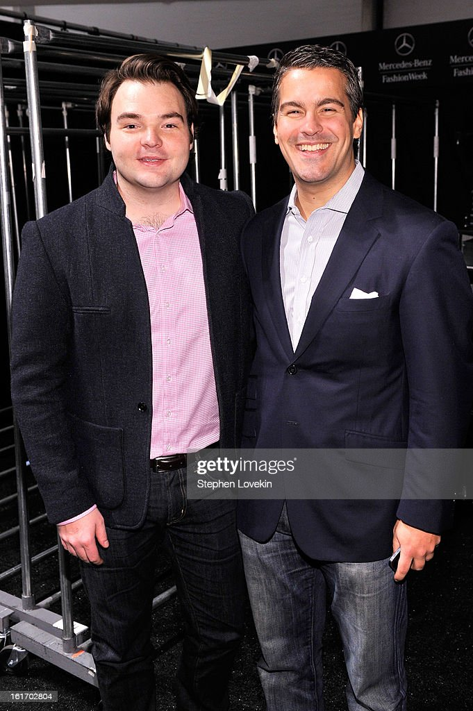 Executive Director of The Studio at Condé Nast Cameron Connors and Founder of Fashion Dashboard Stephan Alber attend The Decoded Fashion Forum & Hackathon Finale Fall 2013 fashion show during Mercedes-Benz Fashion Week at The Stage at Lincoln Center on February 14, 2013 in New York City.