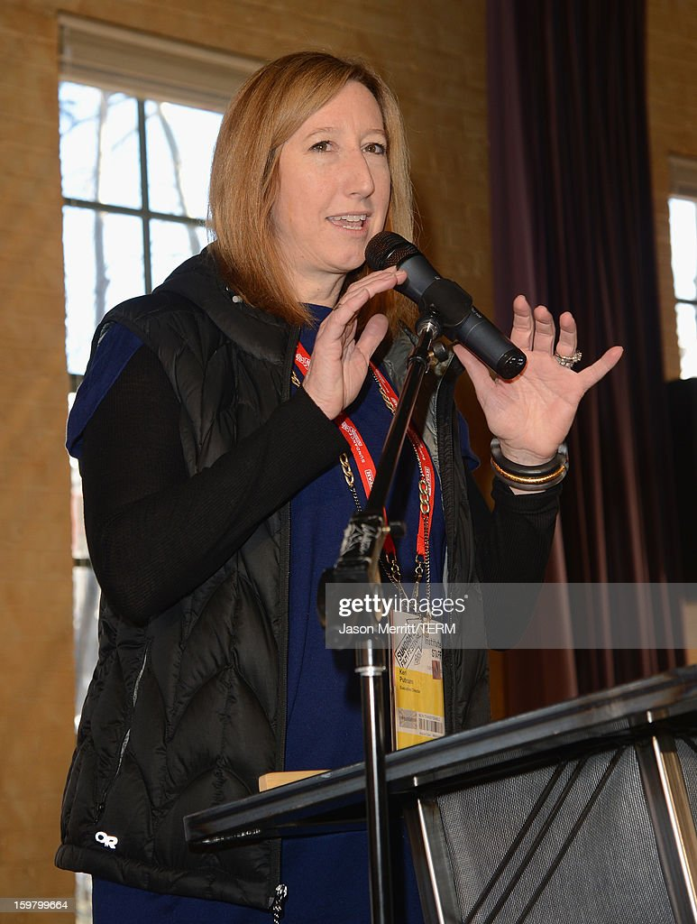 Executive Director of the Sundance Film Festival, Keri Putnam speaks at the 2013 Indian Paintbrush Producer's Award Luncheon during the 2013 Sundance Film Festival on January 20, 2013 in Park City, Utah. Indian Paintbrush has selected 2013 Sundance Film Festival selection Ain't Them Bodies Saints, as well as two of its producers (Toby Halbrooks and James M. Johnston) and their production company (Sailor Bear), as the recipients of the 2013 Indian Paintbrush Producer's Award and accompanying $10,000 grant. The award was announced today at the Producers Lunch, hosted by the Sundance Institute Feature Film Program.