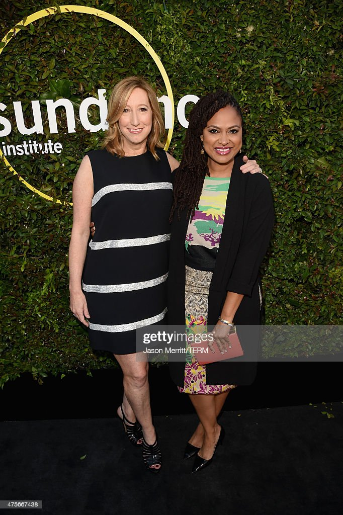 Executive Director of the Sundance Institute Keri Putnam (L) and director Ava DuVernay attend the 2015 Sundance Institute Celebration Benefit at 3LABS on June 2, 2015 in Culver City, California.