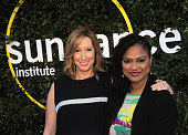 Executive Director of the Sundance Institute Keri Putnam and director Ava DuVernay arrives for the 2015 Sundance Institute celebration benefit held...