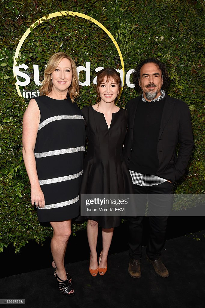 Executive Director of the Sundance Institute Keri Putnam and directors Marielle Heller and Alejandro Gonzalez Inarritu attend the 2015 Sundance Institute Celebration Benefit at 3LABS on June 2, 2015 in Culver City, California.