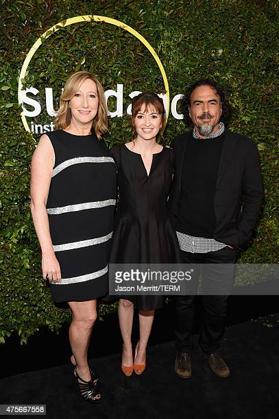 Executive Director of the Sundance Institute Keri Putnam and directors Marielle Heller and Alejandro Gonzalez Inarritu attend the 2015 Sundance...