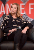 Executive Director of the Sundance Institute Keri Putnam speaks onstage during the Day One Press Conference at the Egyptian Theatre during the 2014...