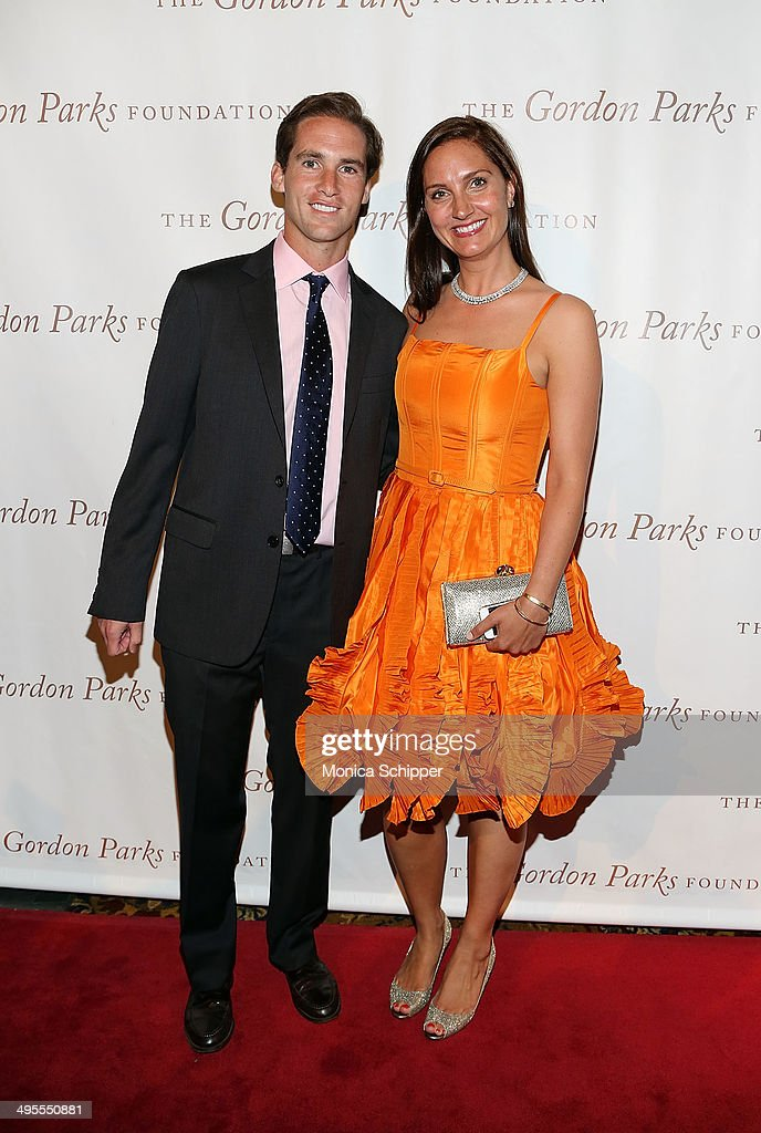 Executive Director of the the Gordon Parks Foundation, Peter W. Kunhardt Jr. (L) and Zoe Haydock attend 2014 Gordon Parks Foundation awards dinner at Cipriani Wall Street on June 3, 2014 in New York City.