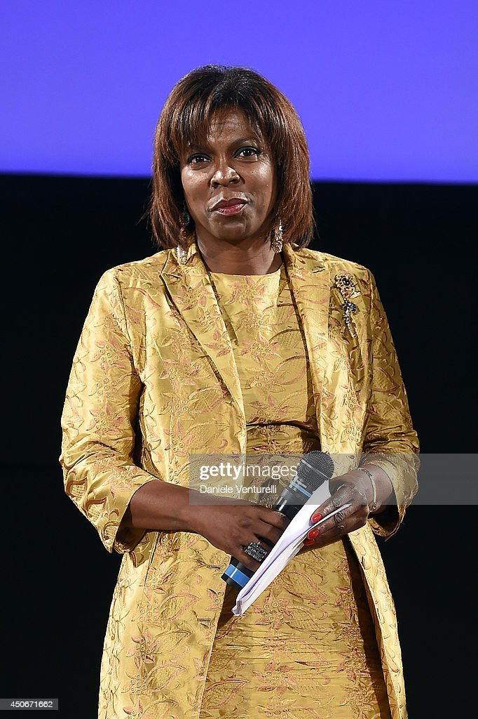 Executive Director of the United Nations World Food Programme <a gi-track='captionPersonalityLinkClicked' href=/galleries/search?phrase=Ertharin+Cousin&family=editorial&specificpeople=9100430 ng-click='$event.stopPropagation()'>Ertharin Cousin</a> attends the 60th Taormina Film Fest on June 15, 2014 in Taormina, Italy.