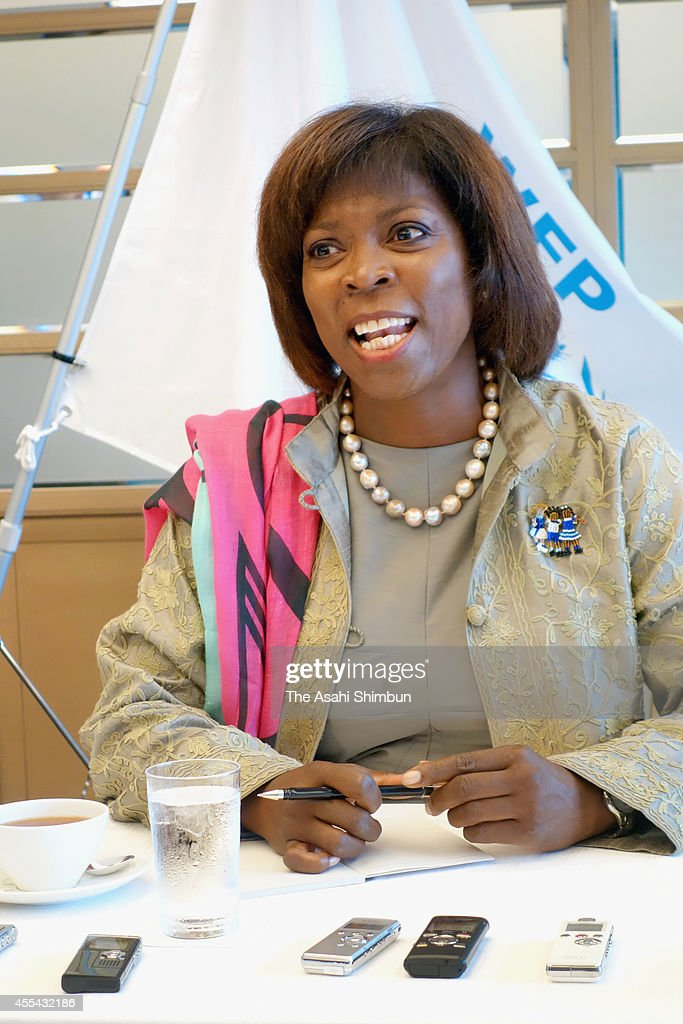 Executive Director of the United Nations World Food Programme <a gi-track='captionPersonalityLinkClicked' href=/galleries/search?phrase=Ertharin+Cousin&family=editorial&specificpeople=9100430 ng-click='$event.stopPropagation()'>Ertharin Cousin</a> speaks during a group interview on September 13, 2014 in Tokyo, Japan.