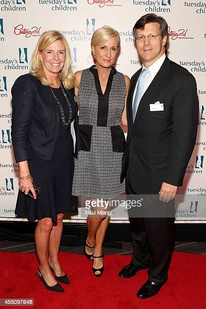 Executive Director of Tuesday's Children Terry Grace Sears TV host Mika Brzezinski and David Weild IV attend Tuesday's Children Roots of Resilience...