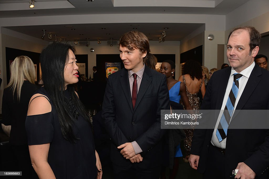 Executive Director Rose Kuo (L) and actor Paul Dano attend the '12 Years A Slave' premiere during the 51st New York Film Festival at Alice Tully Hall at Lincoln Center on October 8, 2013 in New York City.