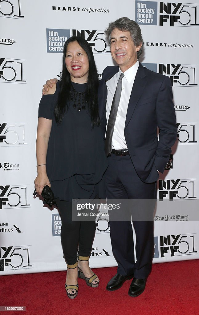 Executive Director Rose Kuo (L) and director Alexander Payne attend 'Nebraska' premiere during the 51st New York Film Festival at Alice Tully Hall at Lincoln Center on October 8, 2013 in New York City.