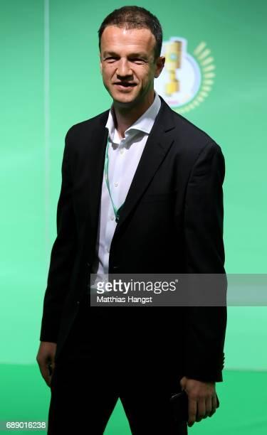 Executive Director Sports of Eintracht Frankfurt Fredi Bobic arrives for the DFB Cup Final 2017 between Eintracht Frankfurt and Borussia Dortmund at...