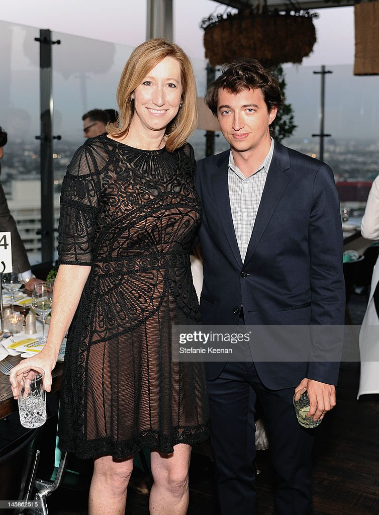 Executive director, Sundance Institute Keri Putnam (L) and filmmaker Benh Zeitlin attend the Sundance Institute Benefit presented by Tiffany & Co. in Los Angeles held at Soho House on June 6, 2012 in West Hollywood, California.