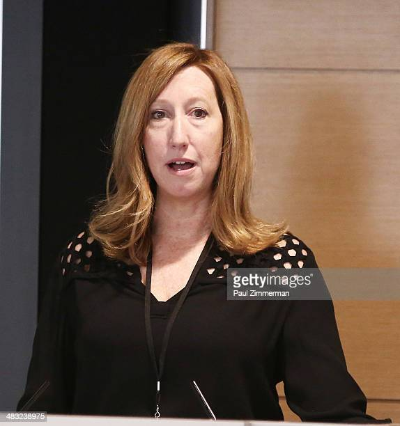 Executive Director Sundance Institute Keri Putnam speaks at the 2014 Sundance Institute Women's Intensive Workshop at Morgan Stanley on April 7 2014...