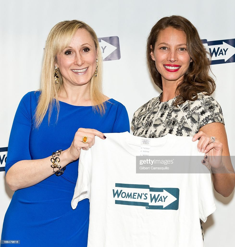 Executive Director Women's Way Amanda S. Aronoff and honoree Christy Turlington Burns attend the 36th Annual Women's Way Powerful Voice Awards honoring Christy Turlington Burns at the Sheraton Philadelphia Downtown Hotel on May 9, 2013 in Philadelphia, Pennsylvania.