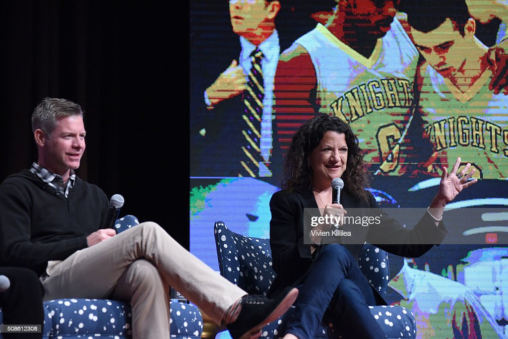 Executive Editor at Variety Debra Birnbaum speaks on stage during 'American Crime' event during aTVfest 2016 presented by SCAD on February 5, 2016 in Atlanta, Georgia.