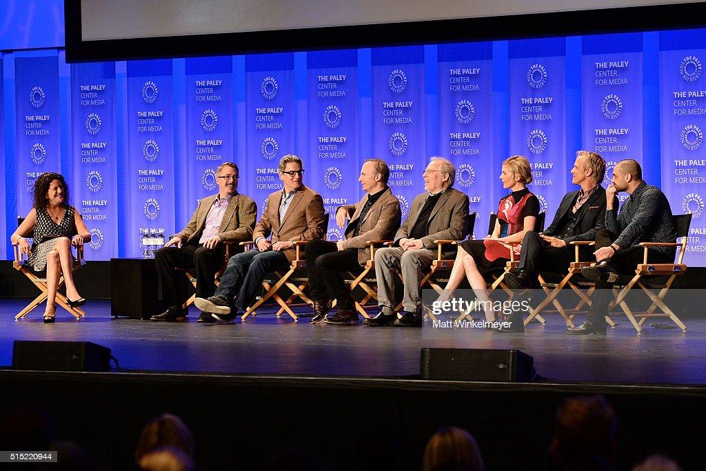 Executive Editor at Variety/Moderator Debra Birnbaum writers/Executive Producers Vince Gilligan Peter Gould actors Bob Odenkirk Michael McKean Rhea...