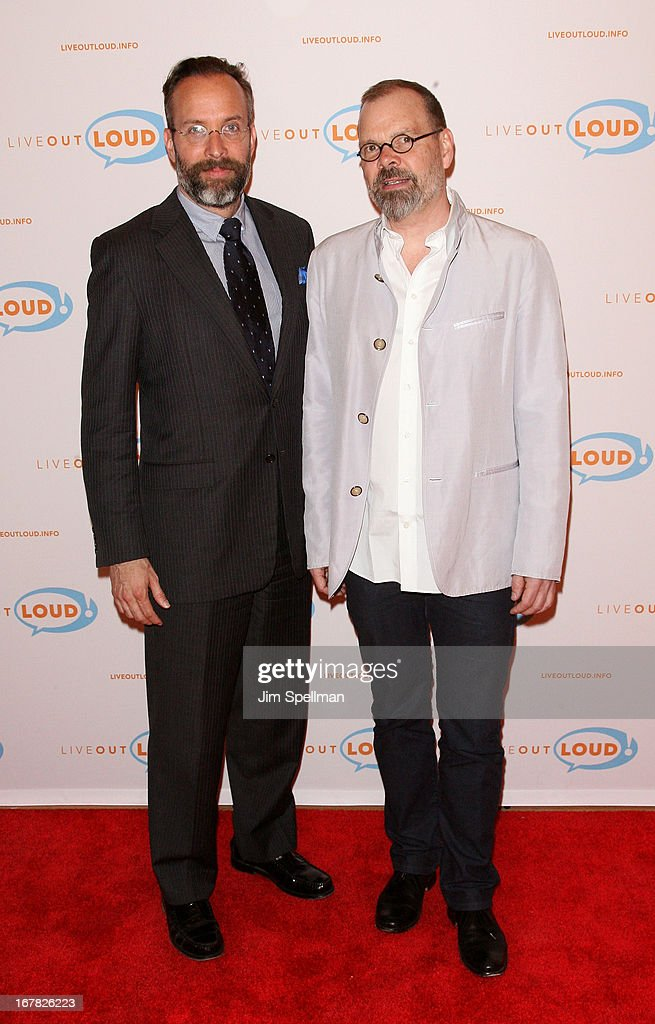 Executive Editor of Esquire magazine Mark Warren and writer <a gi-track='captionPersonalityLinkClicked' href=/galleries/search?phrase=David+France&family=editorial&specificpeople=2455780 ng-click='$event.stopPropagation()'>David France</a> attend the 12th Annual Live Out Loud Gala at TheTimesCenter on April 30, 2013 in New York City.