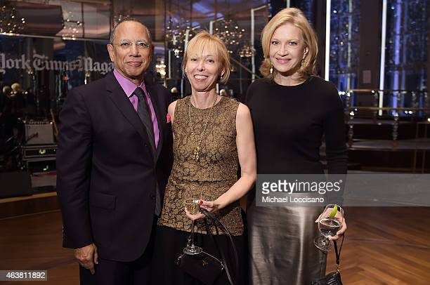 Executive editor of The New York Times Dean Baquet Dylan Landis and journalist Diane Sawyer attend The New York Times Magazine Relaunch Event on...