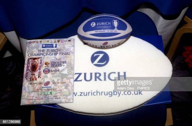 Executive gifts for those attending the dinner in the Spirit of Rugby room at Twickenham