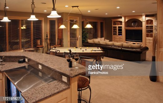 Home Bar Room executive home bar and entertainment room stock photo   getty images