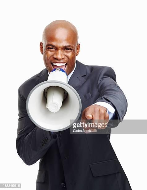Executive making an announcement