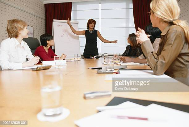 Executive making presentation