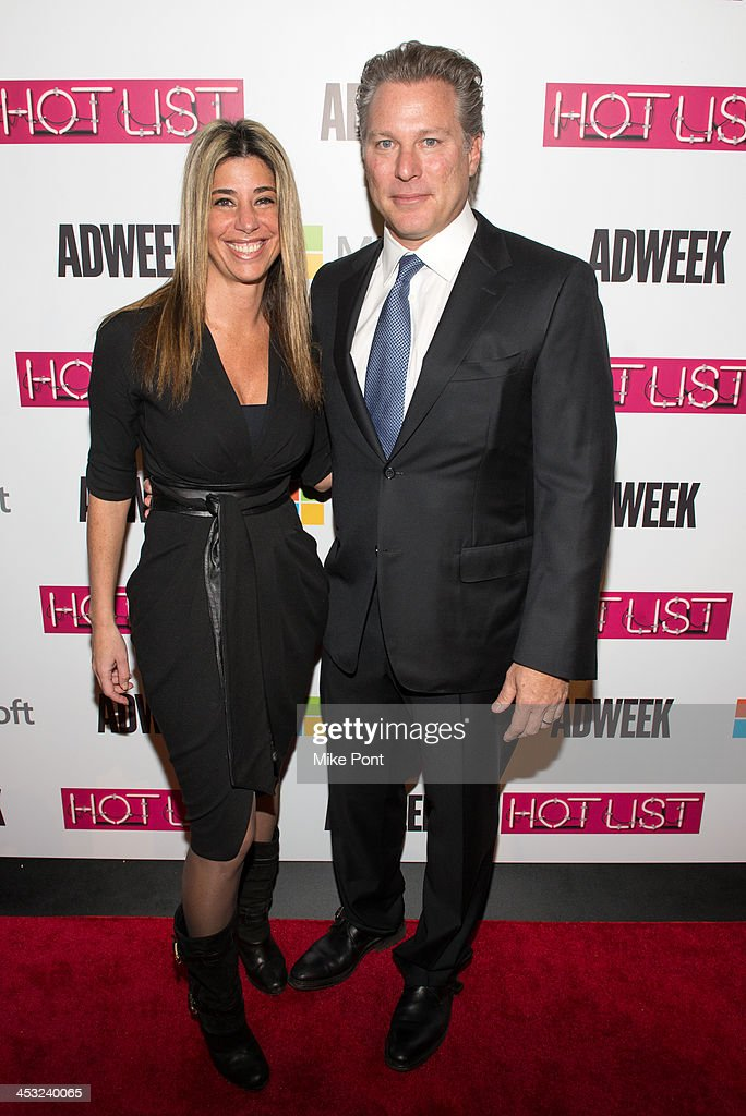 Executive Nicole Purcell (L) and Guggenheim Media CEO <a gi-track='captionPersonalityLinkClicked' href=/galleries/search?phrase=Ross+Levinsohn&family=editorial&specificpeople=4411317 ng-click='$event.stopPropagation()'>Ross Levinsohn</a> attend the 2013 Adweek Hot List Gala at Capitale on December 2, 2013 in New York City.