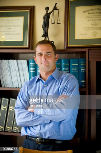 executive, portrait in law office : Stock Photo
