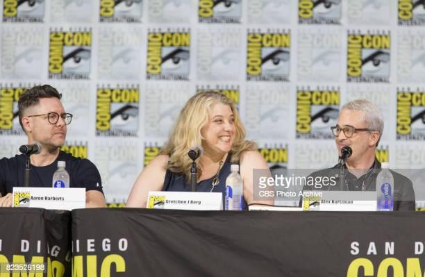 Executive Producer Aaron Harberts Executive Producer Gretchen J Berg Executive Producer Alex Kurtzman during the 'Star Trek Discovery' panel at...