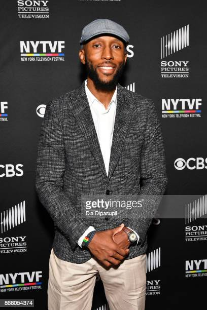 Executive producer Aaron Rahsaan Thomas attends the New York Television Festival primetime world premiere of SWAT at SVA Theatre on October 24 2017...