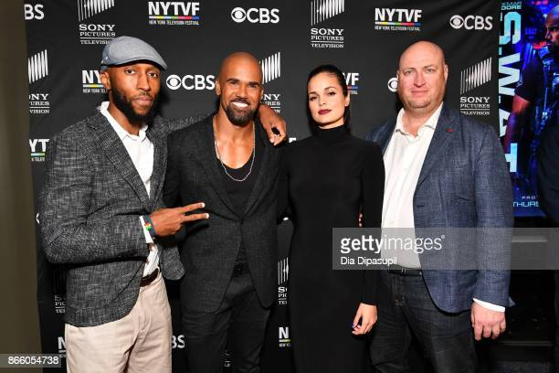 Executive producer Aaron Rahsaan Thomas Shemar Moore Lina Esco and executive producer Shawn Ryan attend the New York Television Festival primetime...