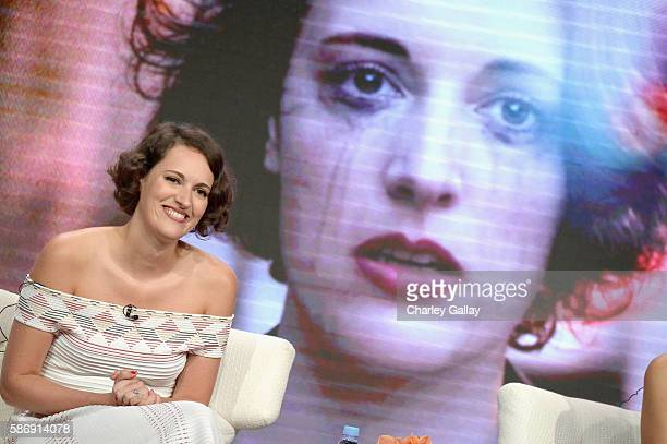 Executive producer actress and writer Phoebe WallerBridge attends the Amazon 2016 Summer TCA Press Tour at The Beverly Hilton Hotel on August 7 2016...
