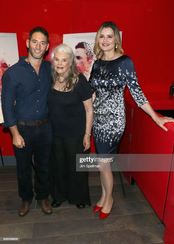 Executive producer Adam Mirels, actresses Geena Davis and Lois Smith attend the 'Marjorie Prime' New York premiere at Quad Cinema on August 18, 2017 in New York City.