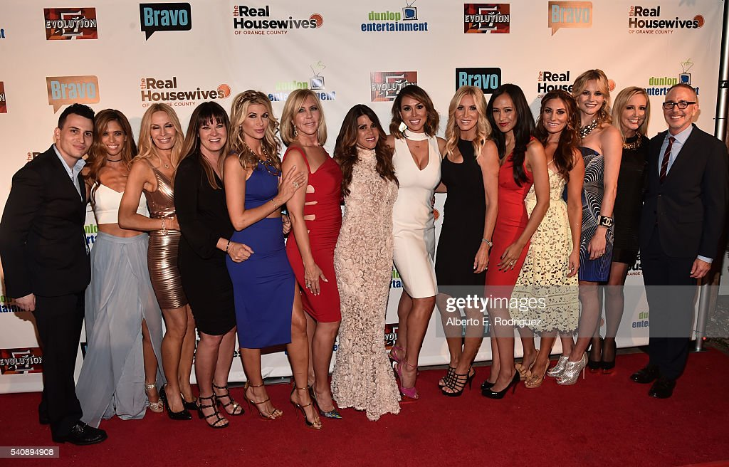 Executive producer Alex Baskin TV personalities Lydia McLaughlin Peggy Tanous Jeana Keough Alexis Bellino Vicki Gunvalson Lynne Curtin Kelly Dodd...