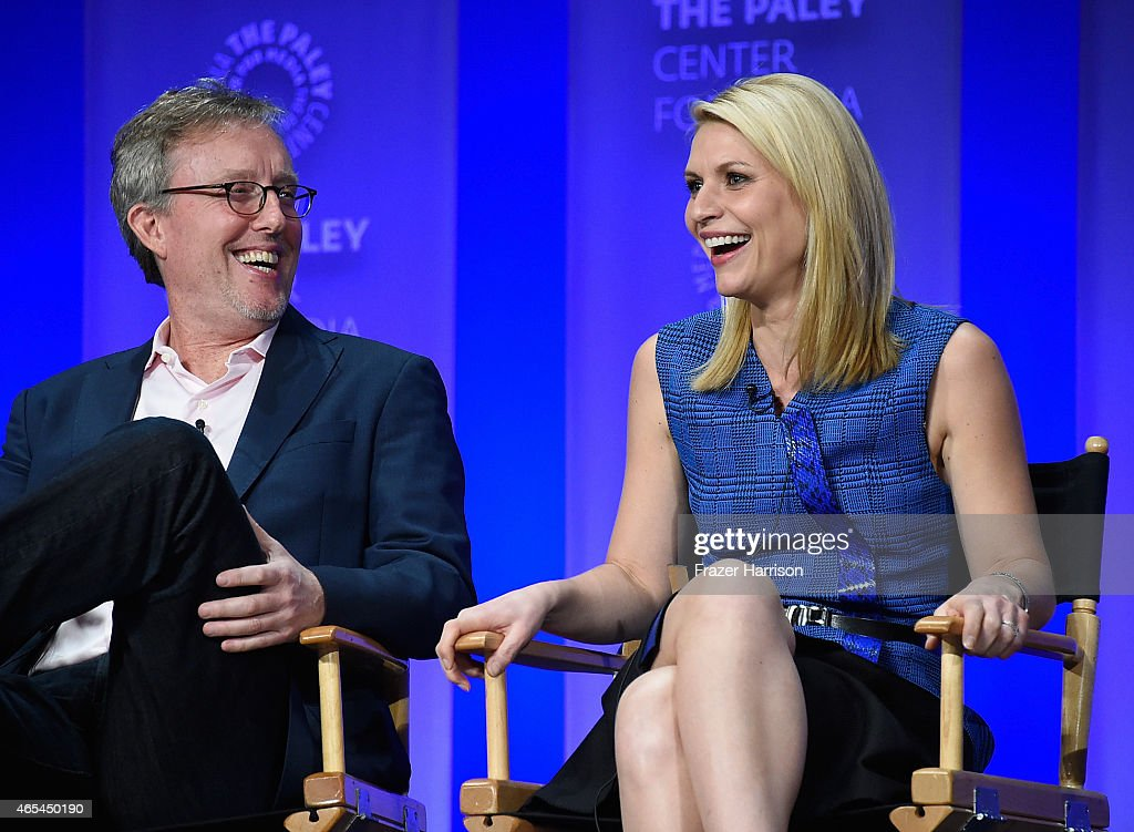 Executive Producer Alex Gansa actress Claire Danes on stage at The Paley Center For Media's 32nd Annual PALEYFEST LA 'Homeland' at Dolby Theatre on...